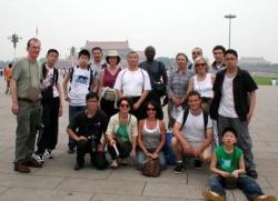 Maître Shi Heng Jun à Pékin avec les disciples français