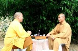 Maître Shi Heng Jun avec Maître Shi De Yang à Fa Wang