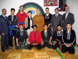 Maître Shi Heng Jun avec les disciples marocains