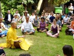 Maître Shi Heng Jun en Inde avec son Maître Shi Yan Fo