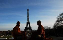 Maître Shi Heng Jun avec Maître Shi De Yang à Paris