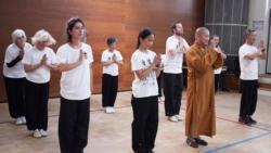 Maître Shi Heng Jun et ses élèves