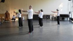 Démonstration du cours de Qi Gong par les élèves