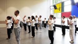 Salut des élèves à Maître Shi Miao Dian