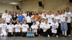 Maître Shi Miao Dian, les élèves de France Shaolin Club et leurs proches