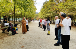 Journée portes ouvertes France Shaolin Club aux jardins du Luxembourg, à Paris